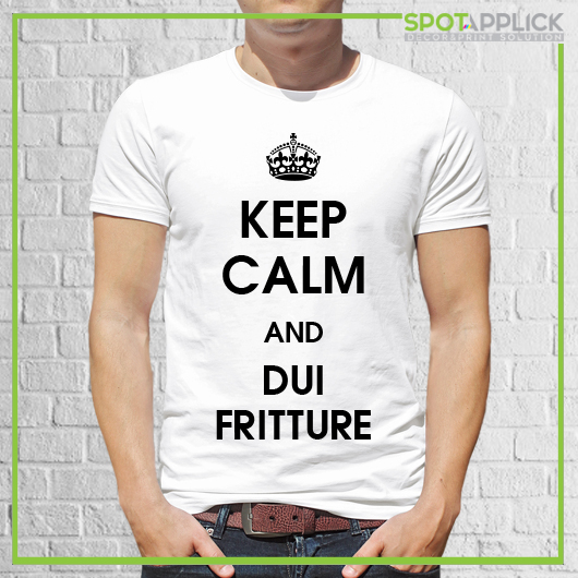 T Shirt Keep Calm and Dui Fritture