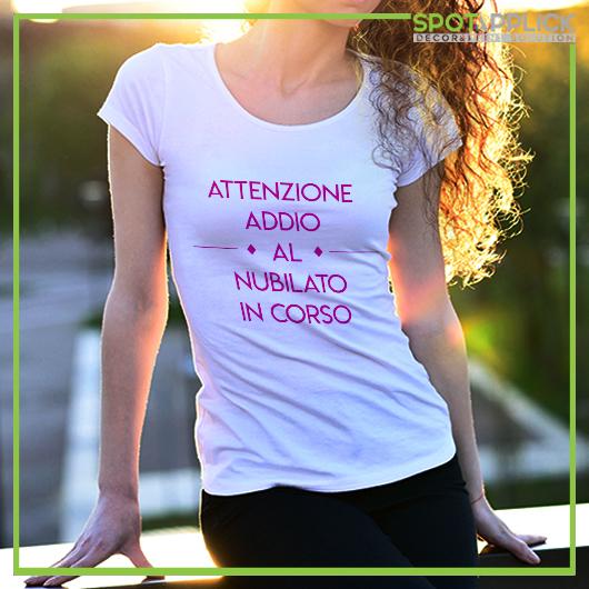 T Shirt Attenzione Addio Al Nubilato