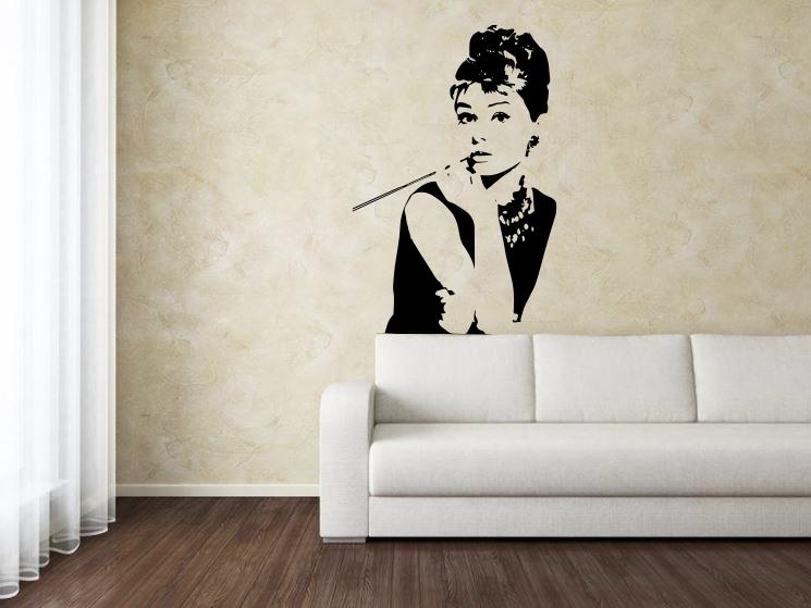 Sticker Adesivo Audrey Hepburn