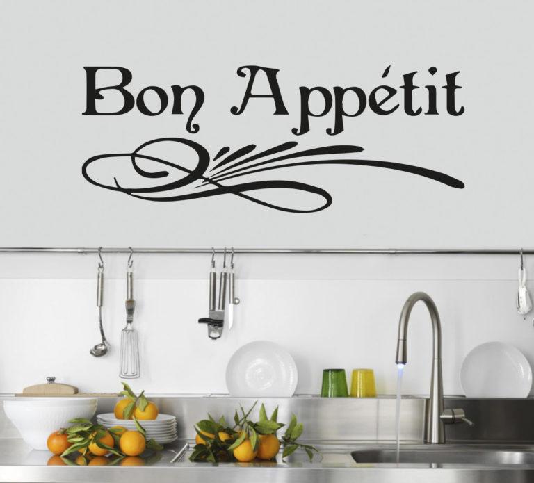 Sticker Adesivo Bon Appetit 002