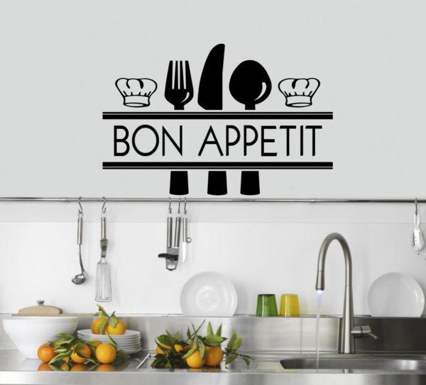 Sticker Adesivo Bon Appetit 003
