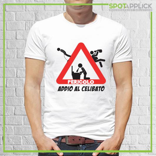 T Shirt Pericolo Addio Al Celibato