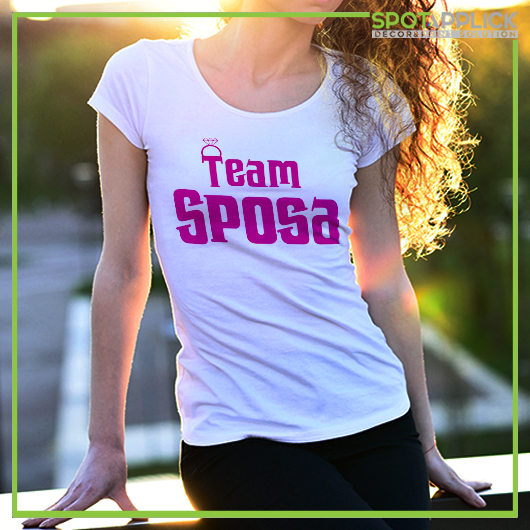 T Shirt Team Sposa Addio Al Nubilato