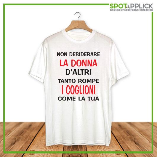 T Shirt Non Desiderare La Donna D'Altri