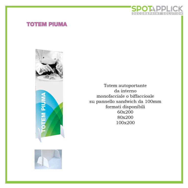 Totem Autoportante + Stampa F/R
