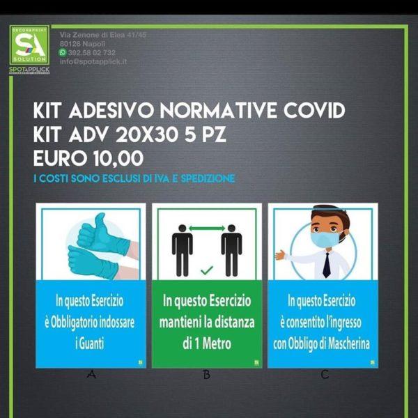 Adesivo normative Covid