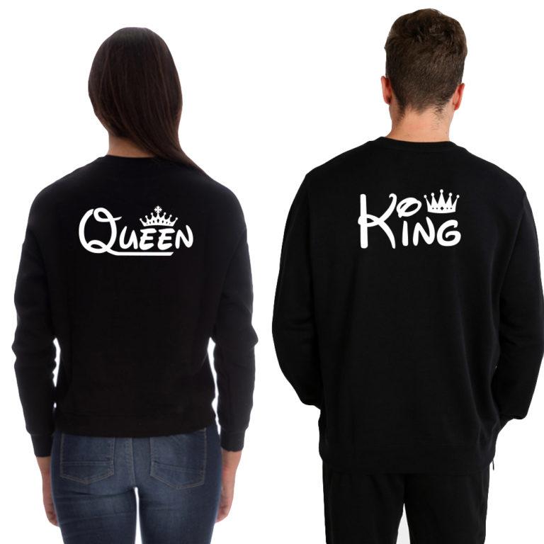 Coppia Felpa King Queen Girocollo