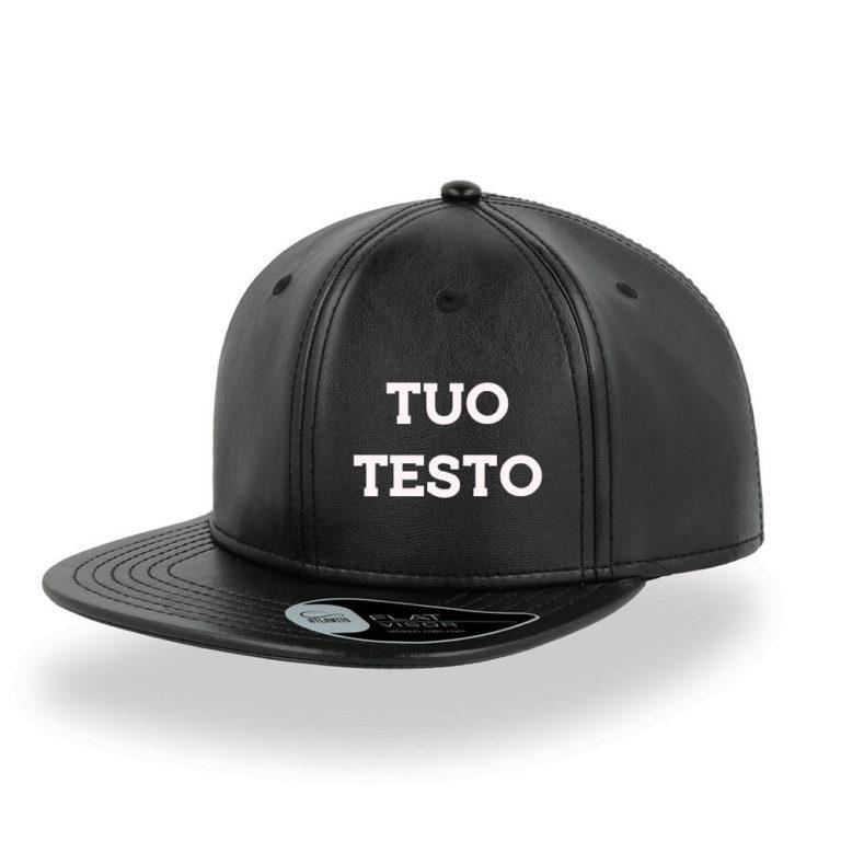 Cappello Snap Ecopelle Personalizzato