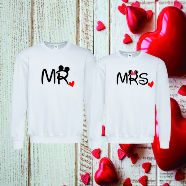 Coppia Felpa Mr Mrs