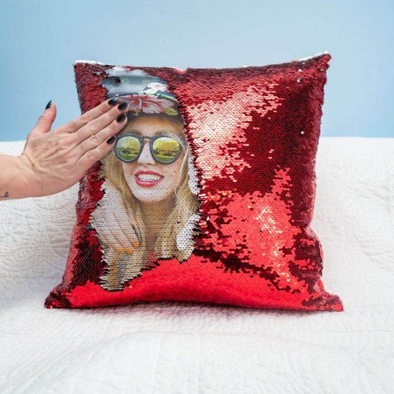 Cuscino in Paillettes Personalizzato