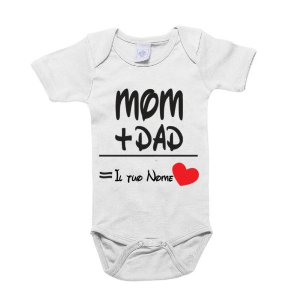 Body 0-12 mesi Mom and Dad personalizzabile